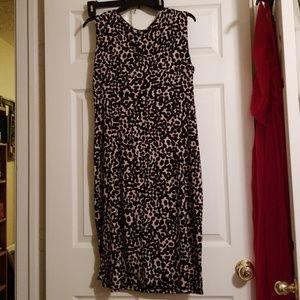 Leopard print dress. Size 14W. Never worn